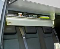 VW T5/T6 Avantgarde roof-top hanging locker silver - finished
