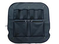 Fenster-Tasche für Heckfenster Ducato, grau/blau, Maße ca. 45x45cm