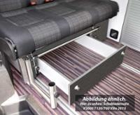 Schublade Schlafsitzbank Merc. Vito V3000 Gr.14 CityVan Dekor Basalt montiert