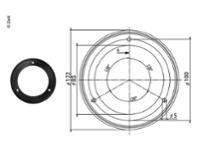 Gummidichtung für 123x84mm Filter schwarz
