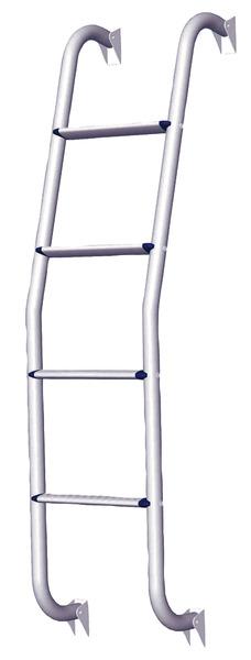 Aluminium stige 4 trin 126cm