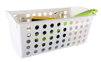 Storage basket with 2 suction cups up to 4kg, white