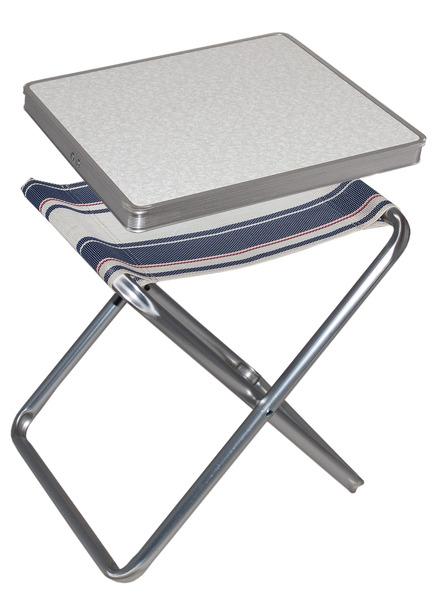 Campinghocker, Tischhocker TORTUGA mit MDF-Tischplatte