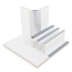 Möbelbauplatte Hochglanz Weiß, HPL