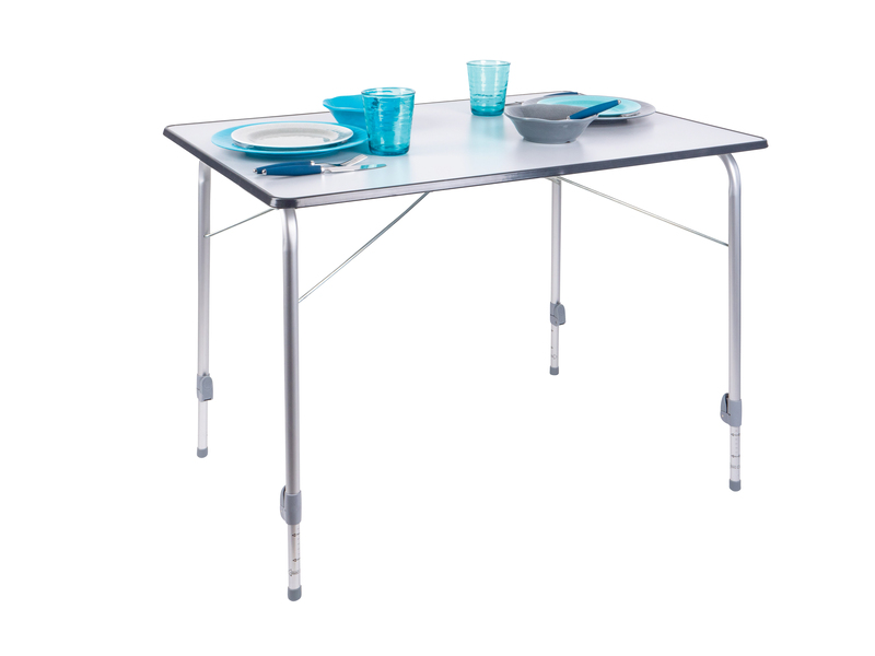 Folding Camping Table, Bergamo 4 deluxe, 100x68cm, grey