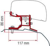 Adapter für Dachmarkise F40van Ford Transit Custom kurzer Radstand