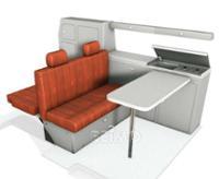 VW T4 Bel Ami møbler sæt / sæt, indretning Granitto