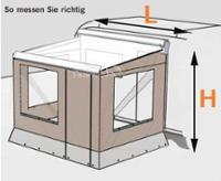 Markisenvorzelt Camp Room 600, 3m, 261-290cm
