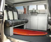 Möbelzeile Cityvan, Anthrazit f.VW T5 kR Bausatz