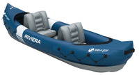 Kayak RIVIERA, blue/grey f. 2 persons