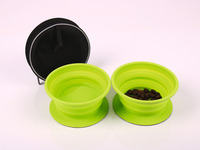 Dog bowl TWIN with 2 foldable silicone cups