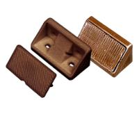 Møbelforbindelse med hætte, brun. 10 stk. SB-pakket