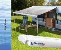 Awning Prostor 350 2,65 case white, cloth:blue