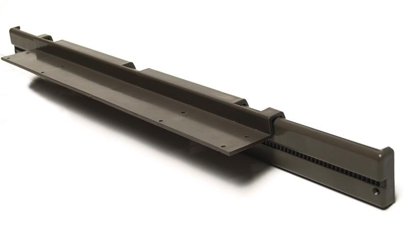 Tischgleitschiene Kunststoff grau 2teilig