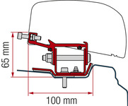 Adapter for roof awning F40van Renault Trafic from 2014 short wheelbase
