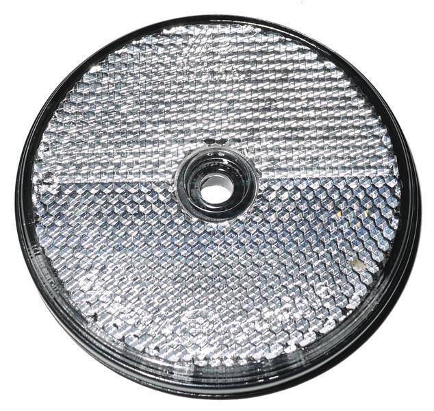 Reflektorer runde hvide (2 stk.)
