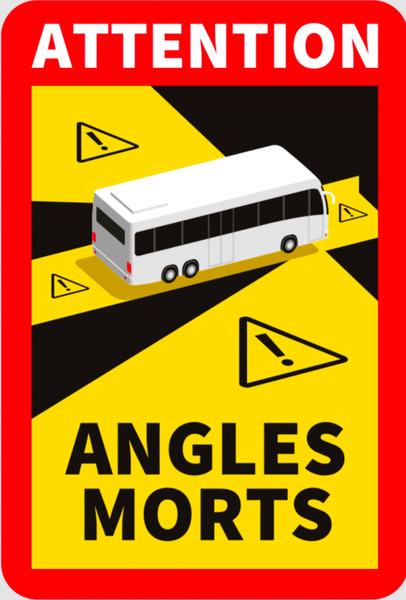 "<p>Warnschild ""Angles Morts"" Toter Winkel selbstklebend</p>"