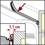 Gomma di tenuta Fiamma Small, per F45, F50, F55 - Prezzo al metro lineare.