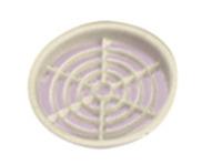 Möbellüftungsgitter 60 mm rund (creme)