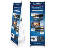 Carbest X-Banner - Motiv: Fernseher, Größe: 600x1800 mm