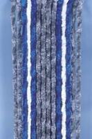Velcro gardin 56x205 grå / blå / hvid til autocampere u. Campingvogn