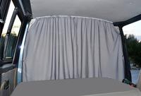 VWT5/6 Trennvorhang Fahrerhaus, grau, 2-lagig, blickdicht