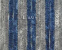 Velcro gardin 56 x 185 cm, grå / mørk blå til campingvognsdøre