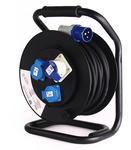 CARBEST kabeltromle 25m kabel med CEE hanstik på kabel og 2xSchuko hunstik + 1xC