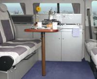 Tischanlage für VW T6/5/4 Weekender und CityVan. Dekor Schiefer