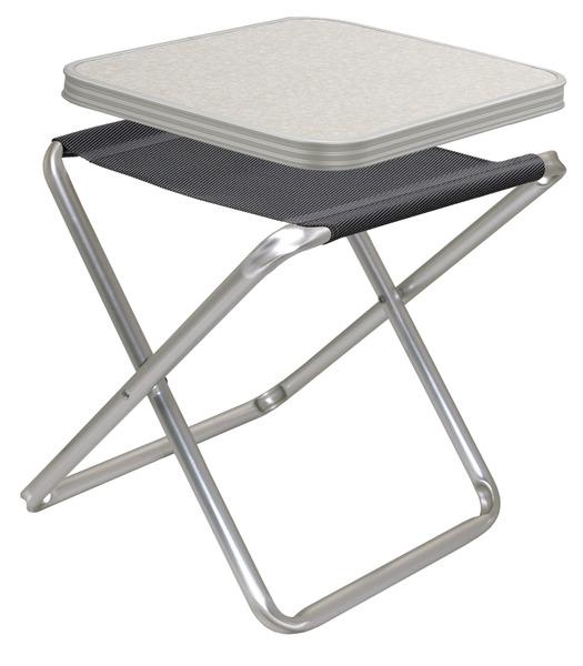 Campinghocker, Tischhocker TORTUGA, Camp4, mit MDF-Tischplatte
