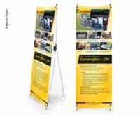 X-Banner - Design: Reimo Campingkasse L-CM, engelsk, størrelse: 60x180cm