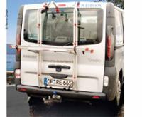 Alu-Heckträger Carry Bike f. 2 Räder Renault Trafic Heckklappe