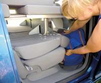 VW Caddy KR Active Lattenrostbett mit Schaumstoff und abnehmbaren Bezügen