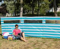 Duffy - Billig windbreak med vindue 6 x 1,4m