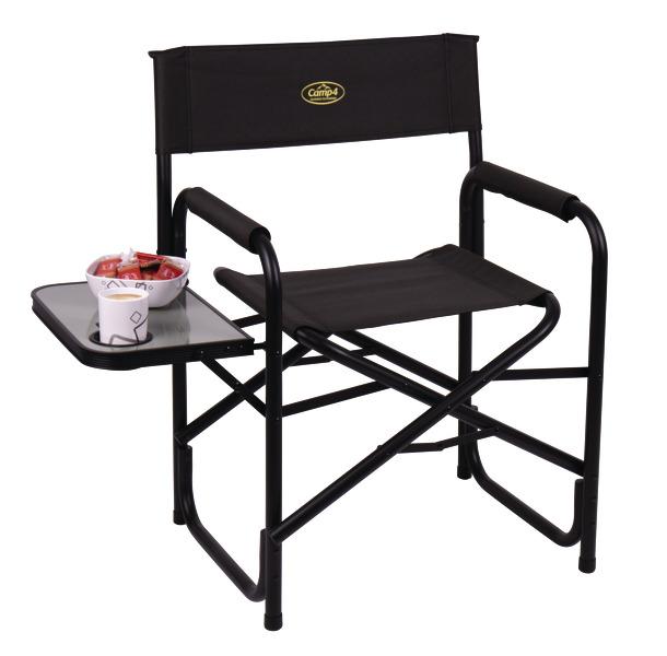 Regiestuhl Director's Chair Maxi de Luxe black, Camp4, mit Seitentisch