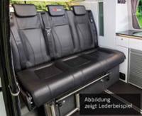 Sovesæde VW T6 / 5 V3000 Gr.8 stiv 3-siders læder polstring 2-farvet.