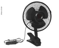 Fan 12 Volt, oscillating with clamp holder