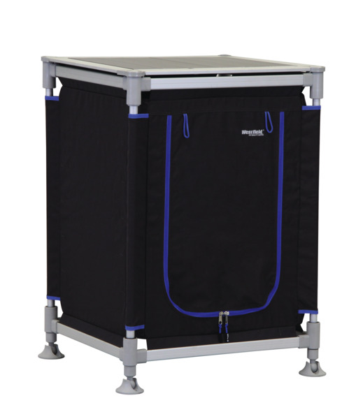 Camping Cabinet ModuCamp Modul 3, 85x62x49cm, sort / blå