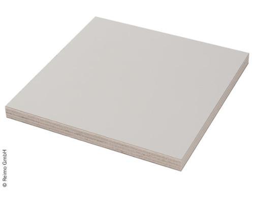 Pappel-Sperrholzplatte Lichtgrau, 1/4 Platte
