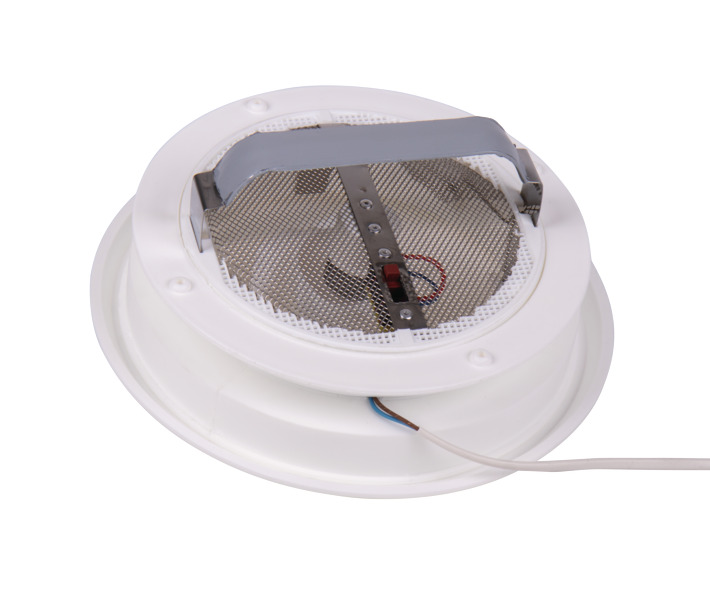 Air outlet Ã?243 mm, roof cut-out 165 mm, with 12V fan