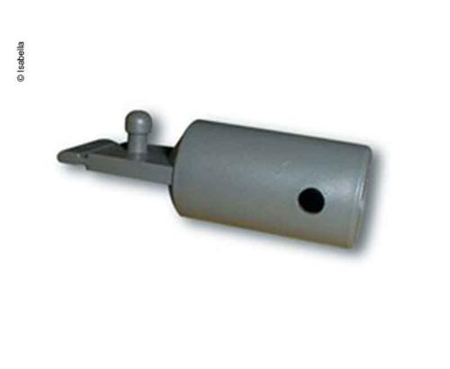 End piece with mandrel for window awning