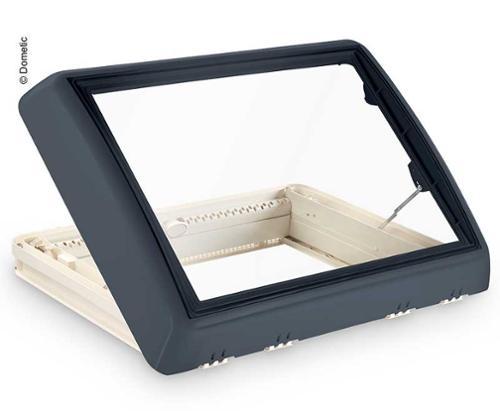 Midi-Heki Style 700x500mm grau Kurbel ohne Zwangsbelüftung