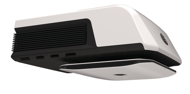 SR-MECair roof air conditioners with extremely flat air distribution unit