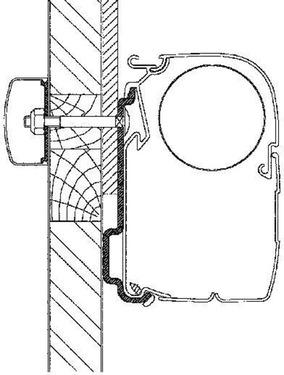 Markiseradapter Eden / Allegro sæt