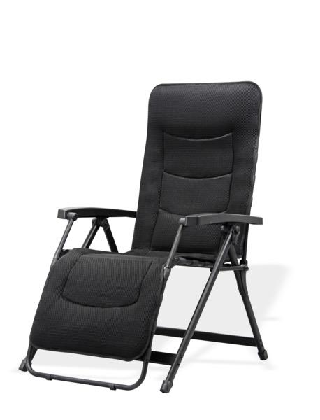 Chaise longue Aeronaut, gris foncé, capacité de charge jusqu'à 140 kg