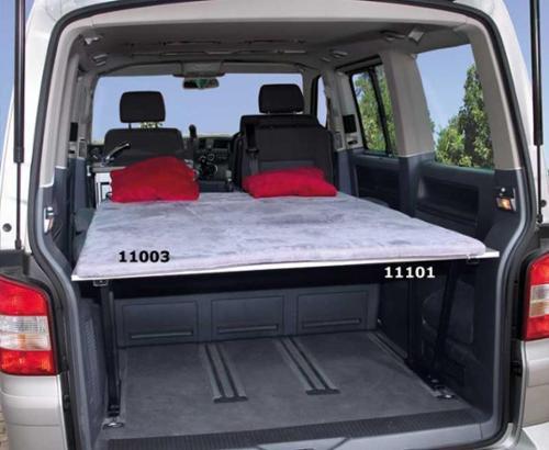 VW T6/5 Komfortpolster grau für Heckauflage Lazy Bed Multivan