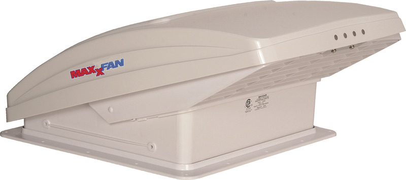 MaxxFan Rooflight with Raincover Deluxe, Colour: white