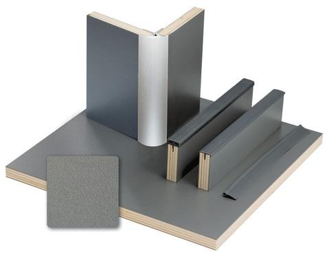 Møbelbræt Anthracit Metallic laminat, HPL, 1/4 plade