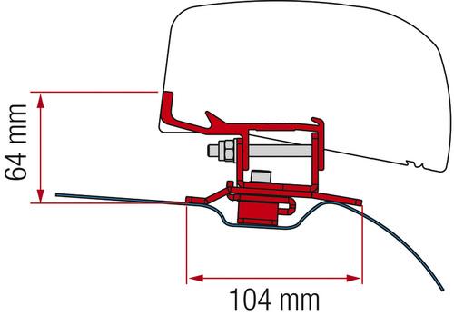 Adapter för F40Van PSA 260, djup svart