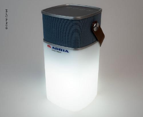 Adria Bluetooth Speaker inkl.Powerbank + Licht